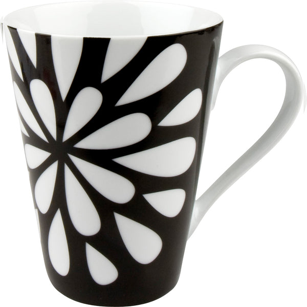 Konitz Black and White 13oz Mug Bloom Design