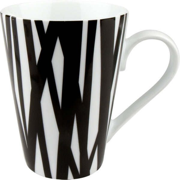 Konitz Black and White 13oz Mug Rhythm Design