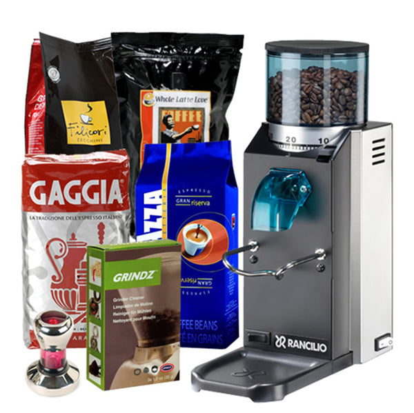 Espresso Lover Gift Pack   Rancilio Rocky Coffee Grinder With Doser