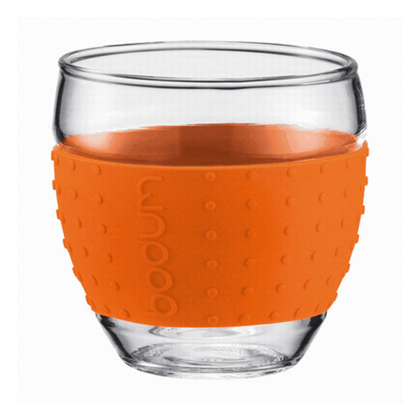 Bodum Pavina Grip Glass 3oz Cups in Orange