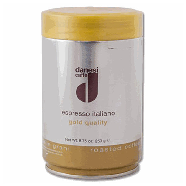 Danesi Caffe Espresso Gold Ground Coffee In Tins Base