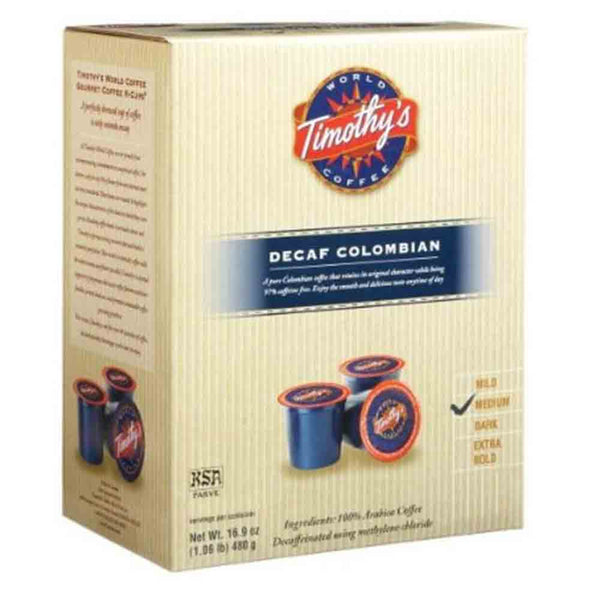 Timothy's Decaffeinated Colombian K Cups Base