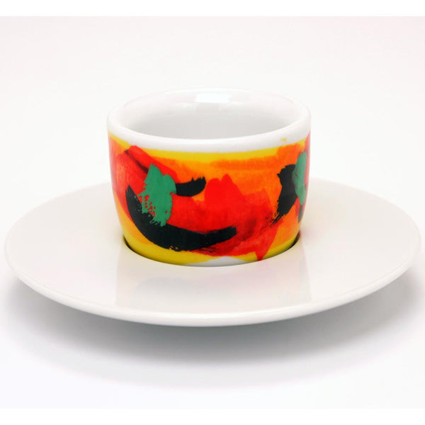 Francis Francis! Mou Cup And Saucer Red/Yellow Base