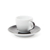 Ancap Verona 2.5oz Espresso Cup and Saucer in Black