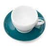 Ancap Verona 6.1oz Cappuccino Cup and Saucer in Teal