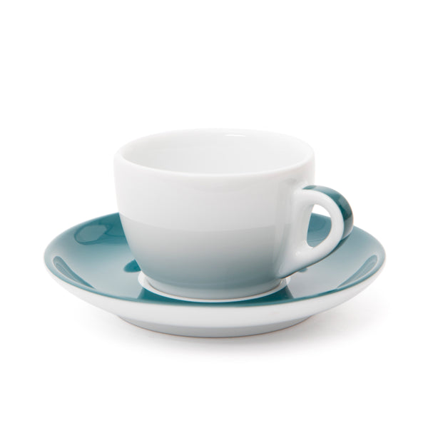 Ancap Verona 5.1oz Cappuccino Cup and Saucer in Teal
