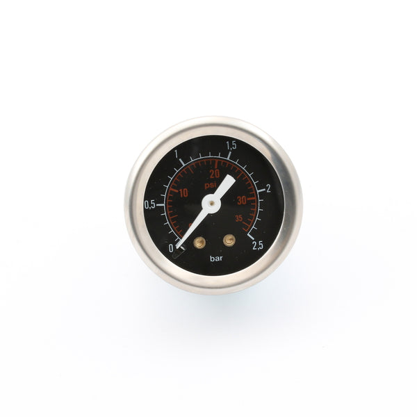 Steam Pressure Gauge, 40mm 0 2.5 Bar Base