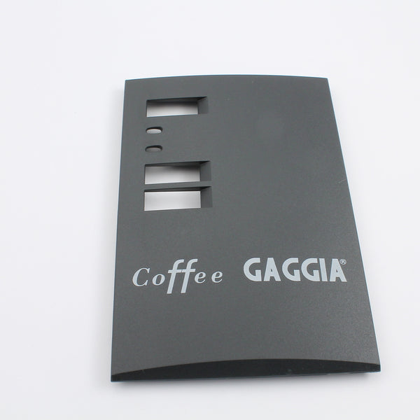 Face Plate For Coffee, Black With White Text Base