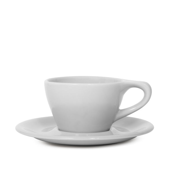 notNeutral Double Cappuccino Cup and Saucer - Light Gray