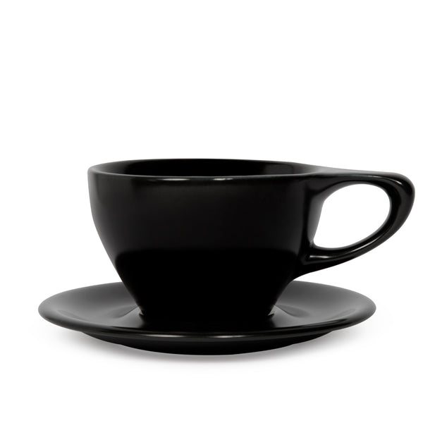 notNeutral Large Latte Cup and Saucer - Matte Black