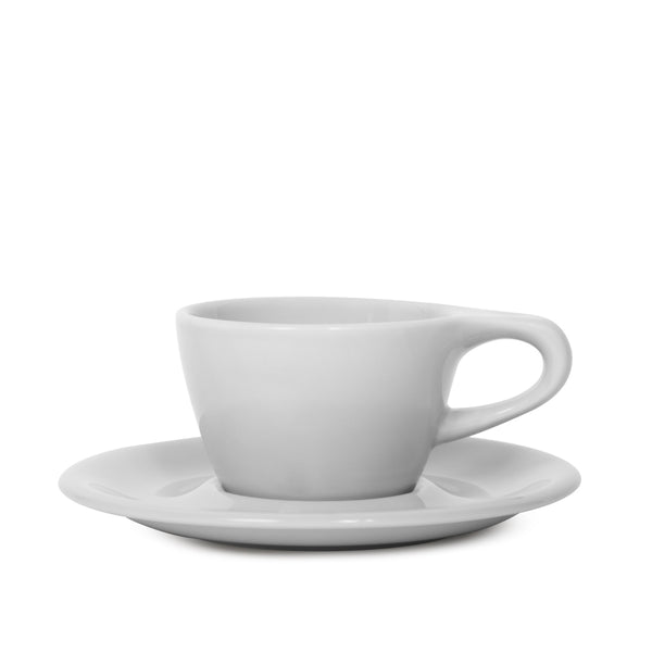notNeutral Cappuccino Cup and Saucer - Light Gray