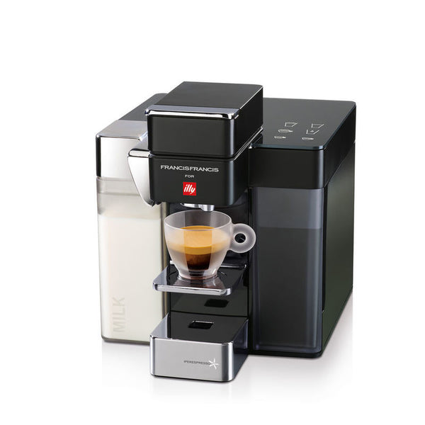 Francis Francis Y5 Milk Espresso and Coffee Machine in Black