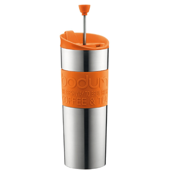 Bodum 15oz Traveling French Press Coffee Maker in Orange