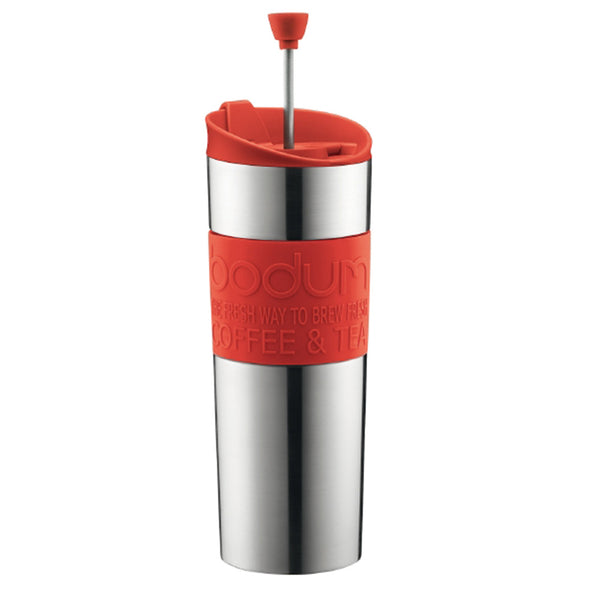 Bodum 15oz Traveling French Press Coffee Maker in Red