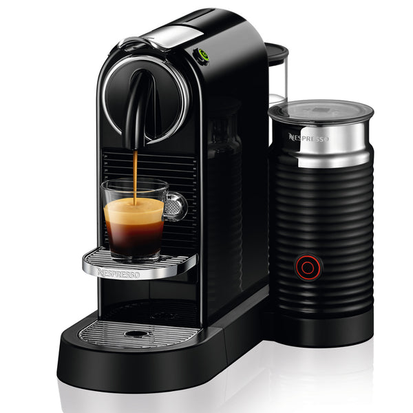 Nespresso Originaline CitiZ Espresso Machine and Aeroccino Bundle in Limousine Black