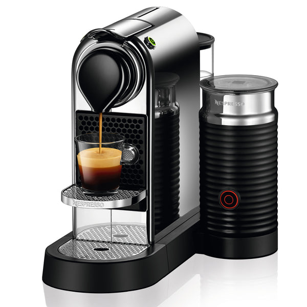 Nespresso Originaline CitiZ Espresso Machine and Aeroccino Bundle in Chrome