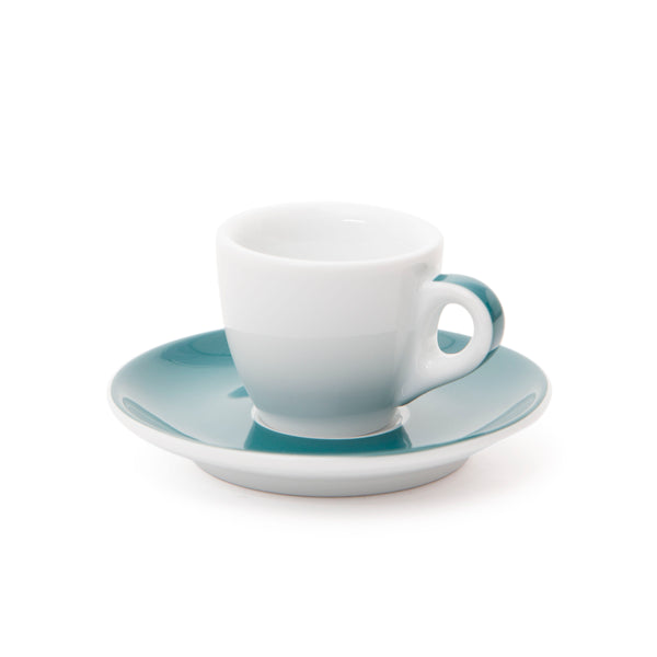 Ancap Verona 1.9oz Espresso Cup and Saucer in Teal