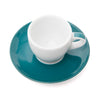 Ancap Verona 2.5oz Espresso Cup and Saucer in Teal
