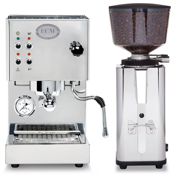 ECM Casa V and S-Manuale 64 Grinder