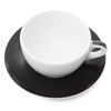 Ancap Verona 11.8oz Latte Cup and Saucer in Black