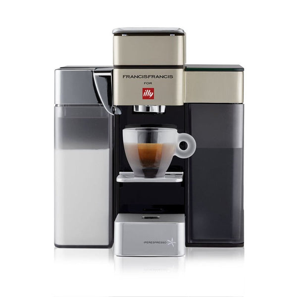 Francis Francis Y5 Milk Espresso and Coffee Machine in Satin