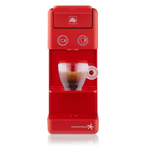 illy Y3.2 iperEspresso Espresso & Coffee Machine in Red