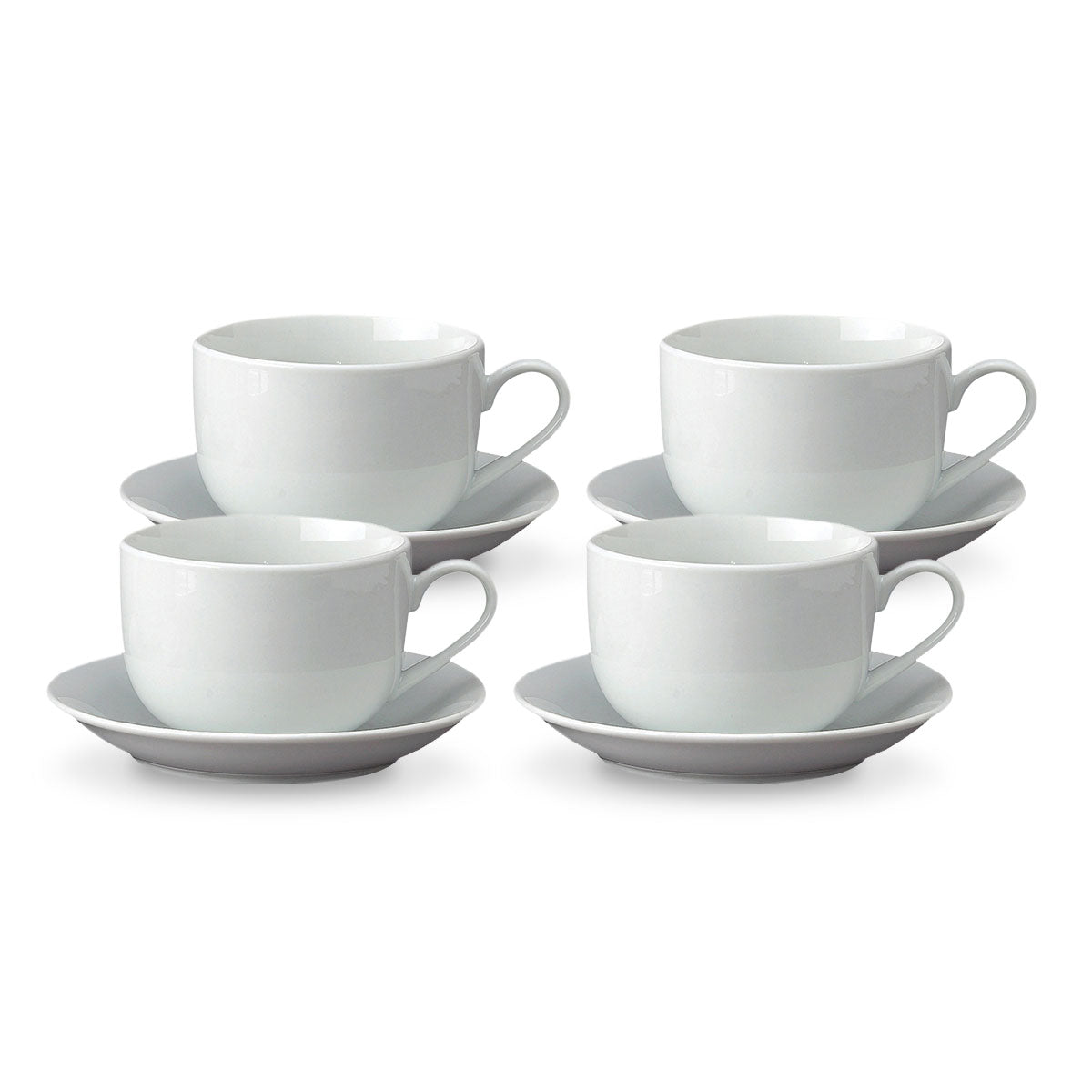 Set of 4 Latte Cups and Saucers