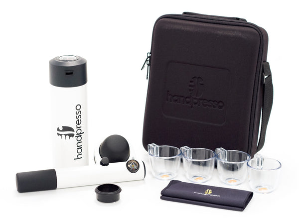 Handpresso Wild Hybrid Outdoor Set in White