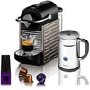 Nespresso C60 Pixie Electric Titan and Aeroccino Plus