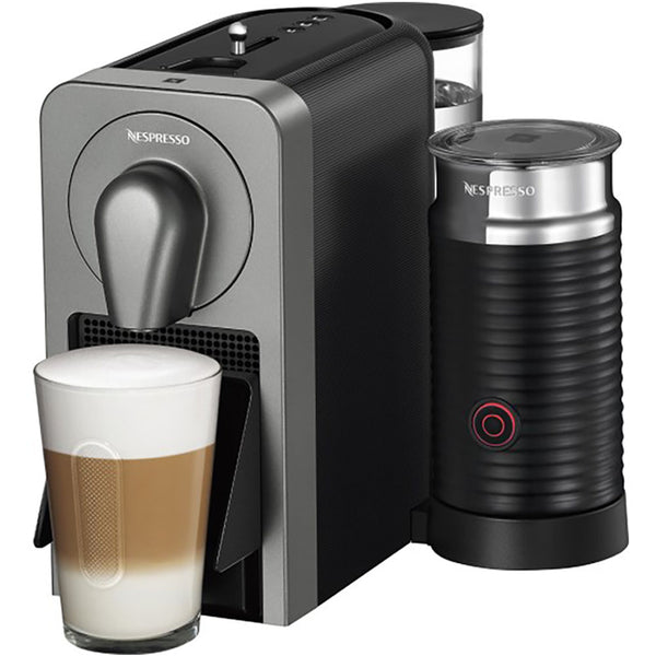 Nespresso Prodigio and Aeroccino 3 in Titan