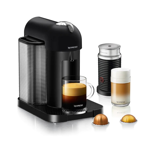 Nespresso VertuoLine in Matte Black and Aeroccino Plus