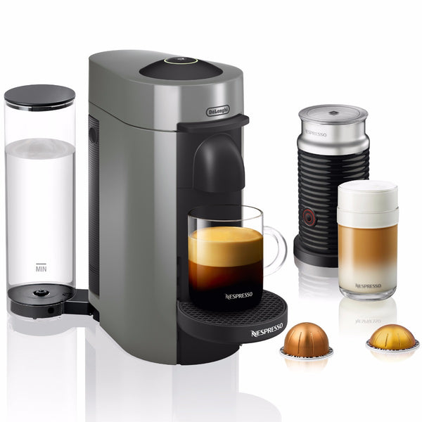 Nespresso VertuoPlus and Aeroccino Bundle in Grey
