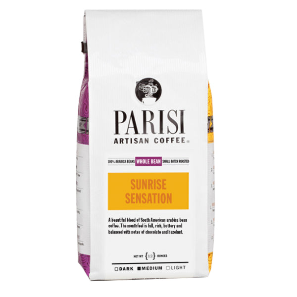 Parisi Artisan Coffee Organic Sunrise Sensation Whole Bean Base