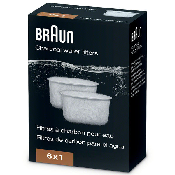 Braun Charcoal Water Filter (6-Pack)