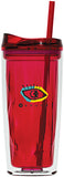 16 oz Geo Acrylic Tumbler with Push Lid and Straw