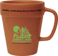 14 oz Terra Cotta Pot Mug