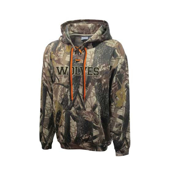 Camo Lace Up Hockey Hoodie