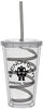 16 oz. Double Wall Clear Tumbler with Lid and Swirly Straw