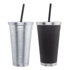BLANK - 18 oz Stainless Steel Tumblers with Lid and Straw