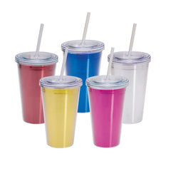 BLANK - 16 oz Metallic Double Wall Acrylic Tumbler