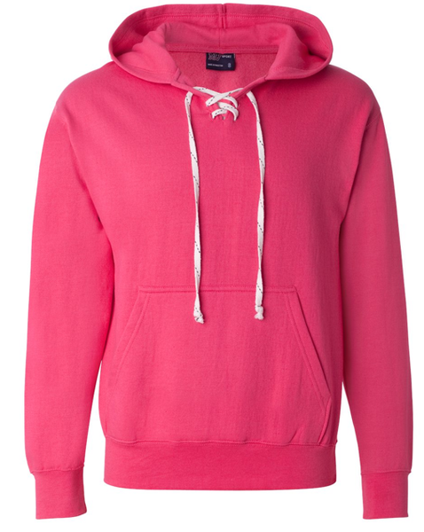 Pink Lace Up Hockey Hoodie