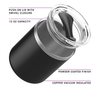 12 oz Stainless Steel Thermal Spark Tumbler