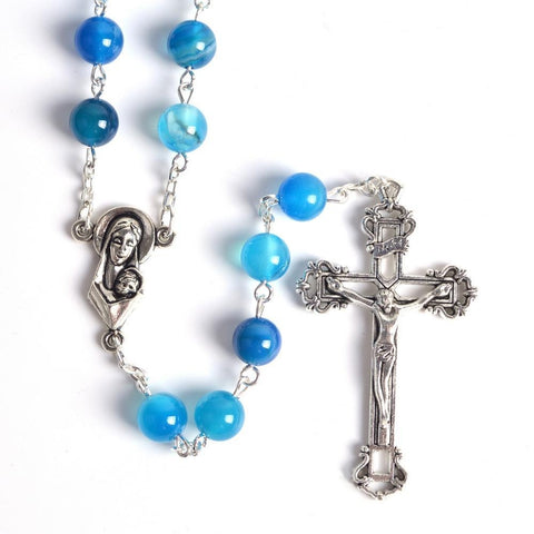 Chapelet Catholique Bleu de France