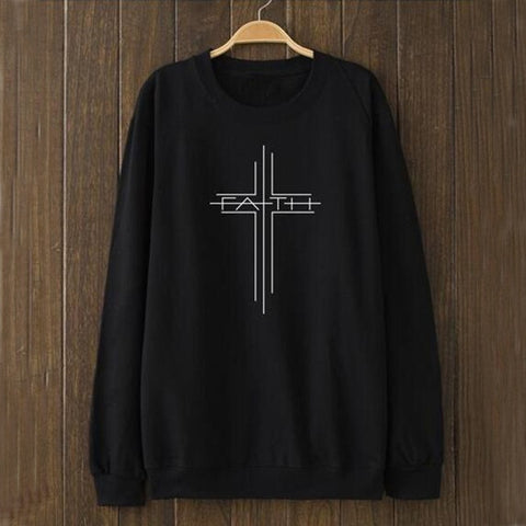 "Sweat Jésus - Faith ""Foi"" noir"
