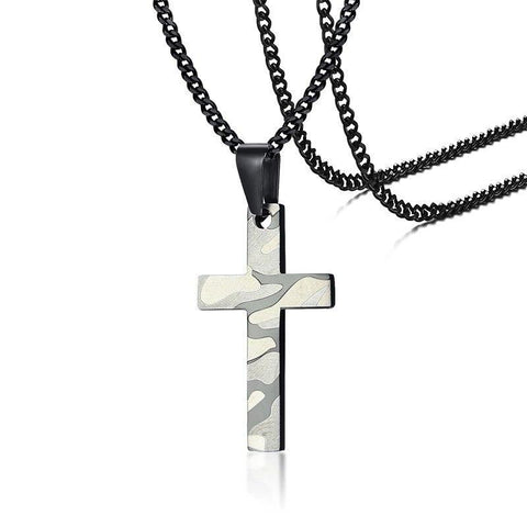 Pendentif Croix Homme Camouflage