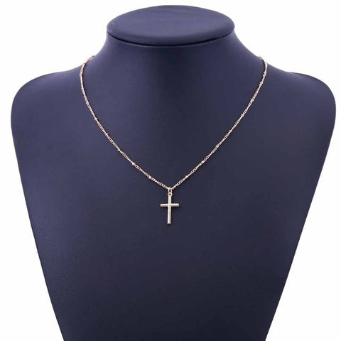 Collier Croix Femme or