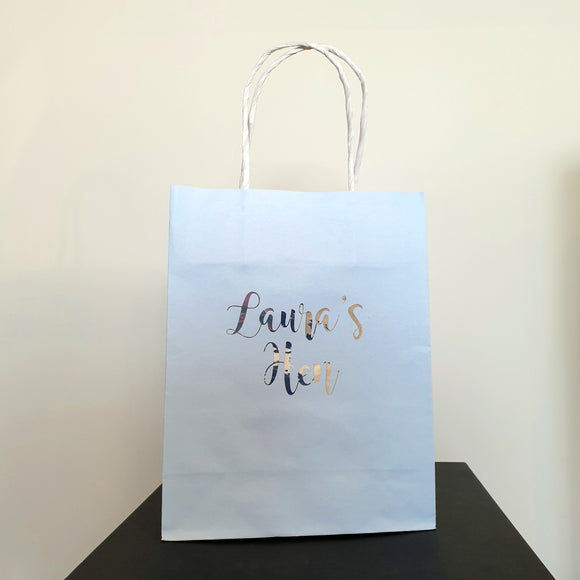 Personalised Light Blue Gift Bags