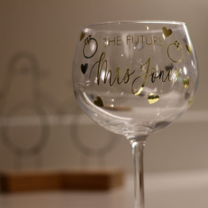 Bride To Be Cocktail Glass