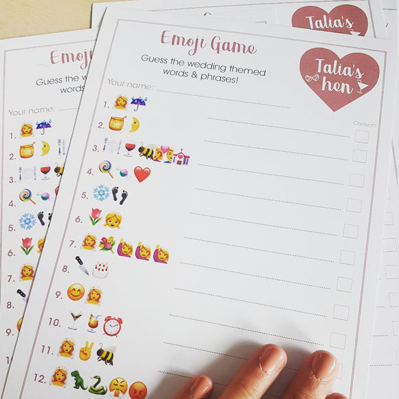 Emoji Hen Party Game