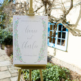 Floral Wedding Welcome Sign